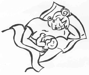 lying down position for breastfeeding