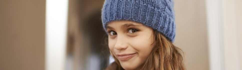 girl wearing a toque