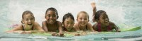 group of kids swimming